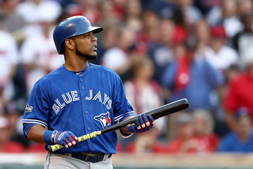 Edwin Encarnacion ALCS - Toronto Blue Jays v Cleveland Indians - Game Two