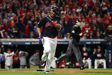 Edwin Encarnacion Divisional Round - New York Yankees v Cleveland Indians - Game Five