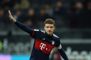 Thomas Mueller of Muenchen reacts during the Bundesliga match between Eintracht Frankfurt and FC Bayern Muenchen at Commerzbank-Arena on December 9, 2017 in Frankfurt am Main, Germany.  (Photo by Alex Grimm/Bongarts/Getty Images) *** Local Caption *** Thomas Mueller