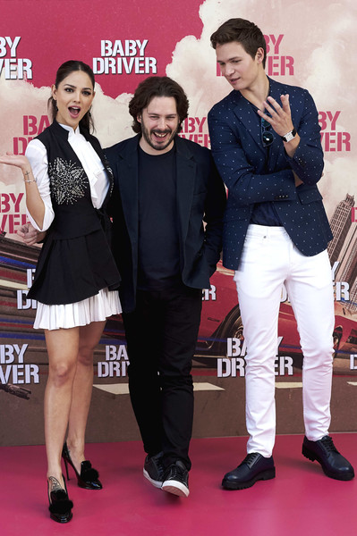 'Baby Driver' Madrid Photocall [fashion,event,carpet,premiere,flooring,red carpet,performance,fashion design,ansel elgort,eiza gonzalez,edgar wright,r,c,madrid photocall,villamagna hotel,madrid,l,baby driver photocall]