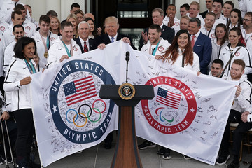 Elana Meyers-Taylor President Trump Welcomes U.S. Olympic Athletes To The White House