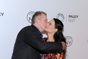 "Aidan Quinn and Lucy Liu attend the ""Elementary"" panel during 2013 PaleyFest: Made In New York at The Paley Center for Media on October 5, 2013 in New York City."