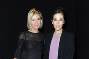 Judith Godreche (L) and Alison Paradis attend the Elie Saab  Spring/Summer 2013 show as part of Paris Fashion Week at Espace Ephemere Tuileries on October 3, 2012 in Paris, France.