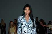 Chanel Iman attends the Ellie Tahari front row during New York Fashion Week: The Showsat Gallery II at Spring Studios on September 05, 2019 in New York City.