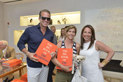 Chris Wragge, Gina Bradley and Samantha Yanks. attend the Elie Tahari And Hamptons Magazine Celebrate The Launch Of Assouline's THE BIG BOOK OF THE HAMPTONS By Michael Shnayerson at  on June 7, 2014 in New York City.