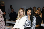 Delilah Belle Hamlin and Chanel Iman attend the Ellie Tahari front row during New York Fashion Week: The Showsat Gallery II at Spring Studios on September 05, 2019 in New York City.