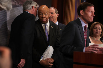 Elijah Cummings Congressional Democrats Hold News Conference on Trump's First 100 Days