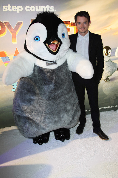 Elijah Wood (UK TABLOID NEWSPAPERS OUT) Elijah Wood attends the European premiere pre party of Happy Feet Two at The Great Connaught Rooms on November 20, 2011 in London, United Kingdom.