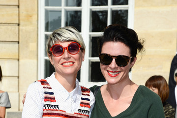 Elisa Nalin PFW: Arrivals at Christian Dior