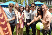 "(L-R) Actors Garrett Clayton, Mollee Gray, Grace Phipps, Maia Mitchell, John DeLuca, Crissty Fit and dancer Kent Boyd attend the Elizabeth Glaser Pediatric AIDS Foundation's 24th Annual ""A Time For Heroes"" at Century Park on June 2, 2013 in Los Angeles, California."