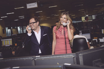 Elizabeth Hurley The 13th Annual BGC Charity Day At BGC Partners In London's Canary Wharf - Behind The Scenes Colour
