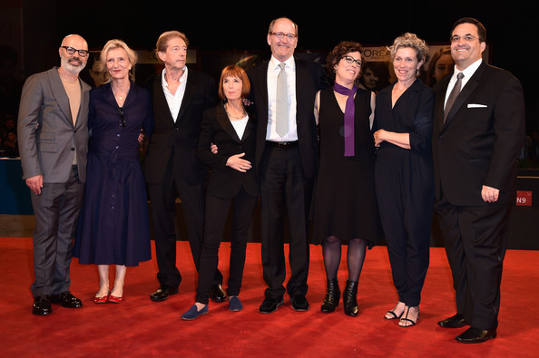 'Olive Kitteridge' Premieres in Venice [event,performance,suit,premiere,formal wear,team,olive kitteridge,venice film festival,steve shareshian,frederick elmes,jane anderson,elizabeth strout,richard jenkins,frances mcdormand,lisa cholodenko,screenwriter]