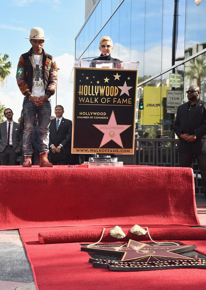 Pharrell Williams Honored on the Walk of Fame — Part 2