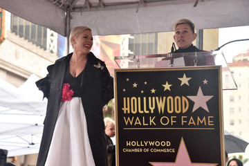 Ellen DeGeneres Pink Is Honored With A Star On The Hollywood Walk Of Fame