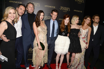 Ellie Bamber Millie Brady Premiere of 'Pride And Prejudice and Zombies' - Red Carpet