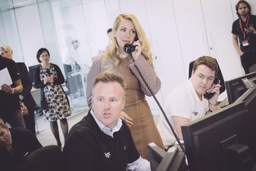 Ellie Goulding The 13th Annual BGC Charity Day At BGC Partners In London's Canary Wharf - Behind The Scenes Colour