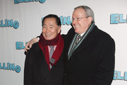 "(L-R) George Takei and Brad Altman attend the Broadway opening night of ""Elling"" at the Ethel Barrymore Theatre on November 21, 2010 in New York City."