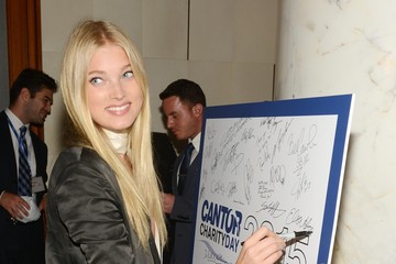 Elsa Hosk Annual Charity Day Hosted by Cantor Fitzgerald and BGC - Cantor Fitzgerald Office - Arrivals
