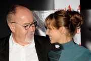 """Spanish actress Elsa Pataky and director Bigas Luna attend """"Di Di Hollywood"""" photocall at Club Alegoria on September 14, 2009 in Madrid, Spain."""