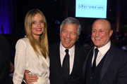 (L-R) Ricki Noel Lander, Robert Kraft, and Enduring Vision Award Honoree Ronald O. Perelman attend the Elton John AIDS Foundation's 12th Annual An Enduring Vision Benefit at Cipriani Wall Street on October 15, 2013 in New York City.
