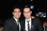 Director Bryan Singer (R) and Eric Podwall attend the 22nd Annual Elton John AIDS Foundation Academy Awards Viewing Party at The City of West Hollywood Park on March 2, 2014 in West Hollywood, California.