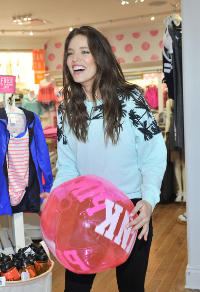 c32ebe31fa4 PINK Model Emily DiDonato Launches Victoria s Secret PINK Limited Release Varsity  Crew At The PINK Nation