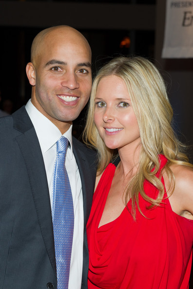 Emily Snider Tennis player James Blake (L) and fiance Emily Snider attend James Blake's Serving for a Cure Charity event at 30 West 60th - 11th Floor on November 28, 2011 in New York City.
