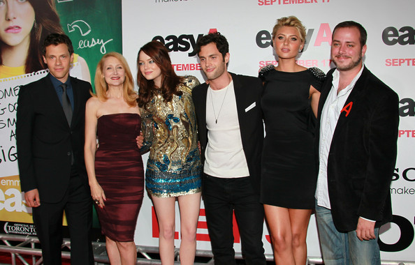 "Emma Stone and Penn Badgley - Premiere Of Screen Gems' ""Easy A"" -"