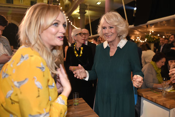 Emma Bunton Camilla, Duchess of Cornwall Joins Jamie Oliver tor the CEO Cook Off