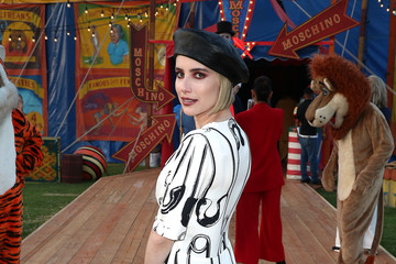 Emma Roberts Moschino Spring/Summer 19 Menswear And Women's Resort Collection