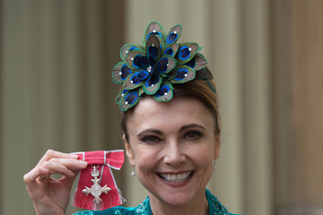 Emma Samms Investitures at Buckingham Palace