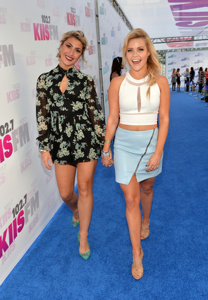 ... red carpet in this photo emma slater witney carson actress emma slater