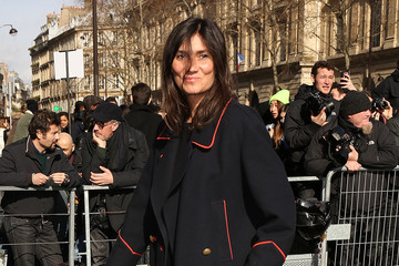 Emmanuelle Alt Arrivals at the Balmain Show