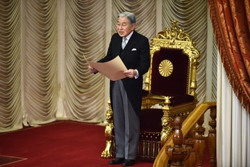 Emperor Akihito Opening Ceremony of the 150-day Ordinary Diet Session in Tokyo
