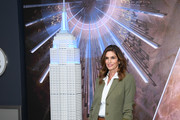 Cindy Crawford lights the Empire State Building in celebration of International Women's Day in partnership with Delivering Good and Jones New York on March 03, 2020 in New York City.