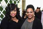 Stylist Susan Moses (L) and singer-songwriter Jill Scott attend the Empowering Women Summit at United Nations on May 9, 2016 in New York City.
