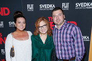 (L-R) Lauren Manzo, Caroline Manzoa and Christopher Manzo attend 'This Is The End' New York Premiere at Sunshine Landmark on June 10, 2013 in New York City.