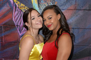 Mackenzie Ziegler and Nia Sioux attend Ending Youth Homelessness: A Benefit for My Friend's Place at Hollywood Palladium on April 06, 2019 in Los Angeles, California.