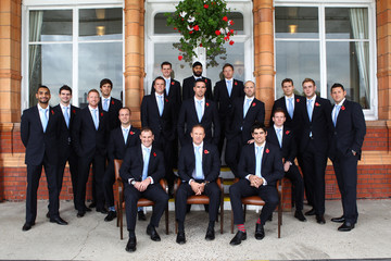 Kevin Pietersen Paul Collingwood The England Test Squad For The Ashes Series