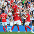 Phil Jones Photos - Marcus Rashford of England celebrates with Phil Jones, Jordan Henderson and Trent Alexander-Arnold of England during the International Friendly match between England and Costa Rica at Elland Road on June 7, 2018 in Leeds, England. - England vs. Costa Rica - International Friendly