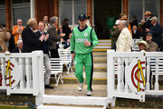William Porterfield of Ireland leads his team out prior to the Royal London One Day International between England and Ireland at Lord's Cricket Ground on May 7, 2017 in London, England.