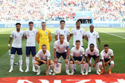 England team pose prior to the 2018 FIFA World Cup Russia group G match between England and Panama at Nizhny Novgorod Stadium on June 24, 2018 in Nizhny Novgorod, Russia.