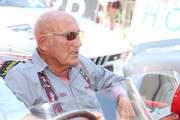 Sir Stirling Moss participates at the Ennstal Classic 2015 on July 18, 2015 in Groebming, Austria.