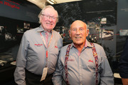 Rauno Aaltonen (L) and Sir Stirling Moss (R) attend the Chopard brunch during the Ennstal Classic 2015 on July 18, 2015 in Groebming, Austria.