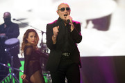 Pitbull performs onstage at Allstate Arena on February 20, 2015 in Rosemont, Illinois.