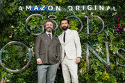 "Michael Sheen (L) and David Tennant  attend the Global premiere of Amazon Original ""Good Omens"" at Odeon Luxe Leicester Square on May 28, 2019 in London, England."