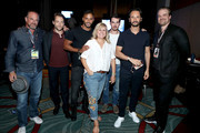 "(L-R) Christopher Meloni, Richard Rankin, Ricky Whittle, Lynette Rice, Colin O'Donoghue, Rodrigo Santoro and David Harbour Back stage after Entertainment Weekly's ""Brave New Warriors"" Panel at San Diego Comic-Con 2017 at San Diego Convention Center on July 21, 2017 in San Diego, California."