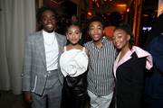 (L-R) Caleb McLaughlin, Lexi Underwood, Asante Blackk, and Eris Baker are seen as Entertainment Weekly Celebrates Screen Actors Guild Award Nominees at Chateau Marmont on January 18, 2020 in Los Angeles, California.