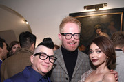 (L-R)  Lea DeLaria, Jesse Tyler Ferguson and Sarah Hyland attend Entertainment Weekly's Screen Actors Guild Award Nominees Celebration sponsored by Maybelline New York at Chateau Marmont on January 20, 2018 in Los Angeles, California.