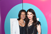 Julianna Margulies (R) attends Entertainment Weekly's Comic-Con Bash held at FLOAT, Hard Rock Hotel San Diego on July 20, 2019 in San Diego, California sponsored by HBO.